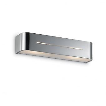 Ideal Lux Posta Twin Wall Light Chrome