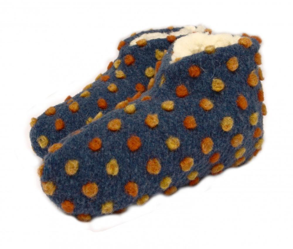 Bettscarpe Wolle Noppen blu 36 37 | In Linea Outlet Store  | Uomini/Donne Scarpa