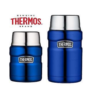 Termos King kolbe vakuum isolert mat kolbe 470ml/710ml metallic blå