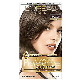 Color de cabello de preferencia Superior de l ' Oreal París, luz ceniza marrón 6a, 1 Kit