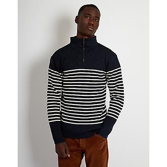 Armor Lux Pull Camionneur Heritage Jumper Navy & White