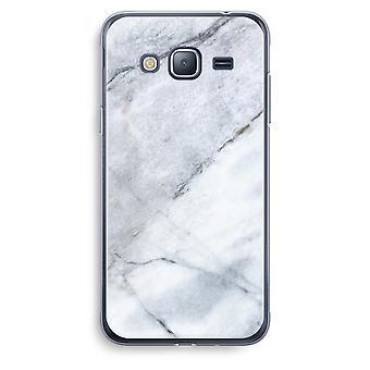 Samsung Galaxy J3 2016 caso transparente (Soft) - branco de mármore