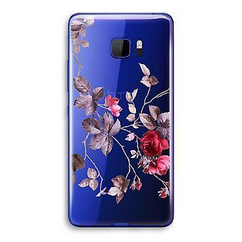 HTC U Ultra Transparent Case - Pretty flowers