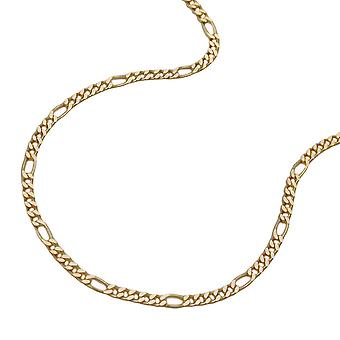 Chain 1, 9mm Figaro tank 5:1 gold plated 60 cm AMD