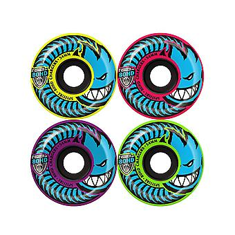 Spitfire Yellow-Pink-Purple-Green Conical Mashup 80HD - 54mm Skateboard Wheels