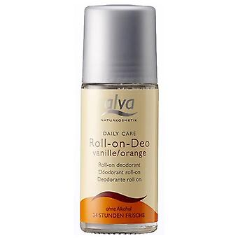 Alva Daily Care Organic Roll On Deodorant Vanilla & Orange , 50ml