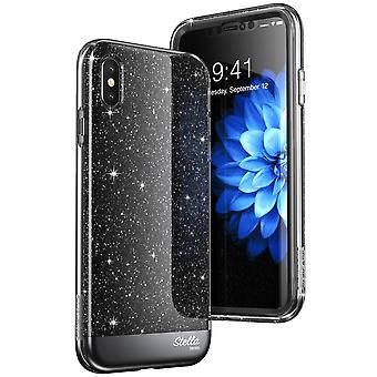 iPhone Xs Case, [Unicorn Beetle Stella Series] Premium Glitter Case with Built-in Screen Protect 2018  (Black)