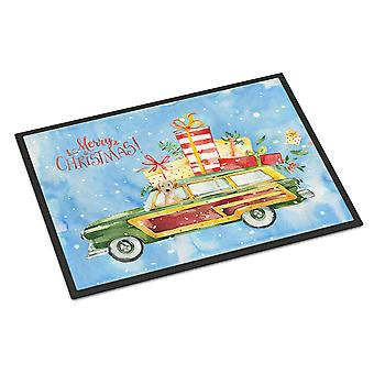 Merry Christmas Yellow Labrador Retriever Indoor or Outdoor Mat 24x36