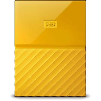 WD mein Pass 4TB Portable Hard Drive Auto Backup-Software WDBYFT0040BYL-WESN - gelb