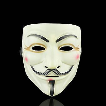 Anonyme Gesichtsmaske Guy Fawkes-gelb-braun