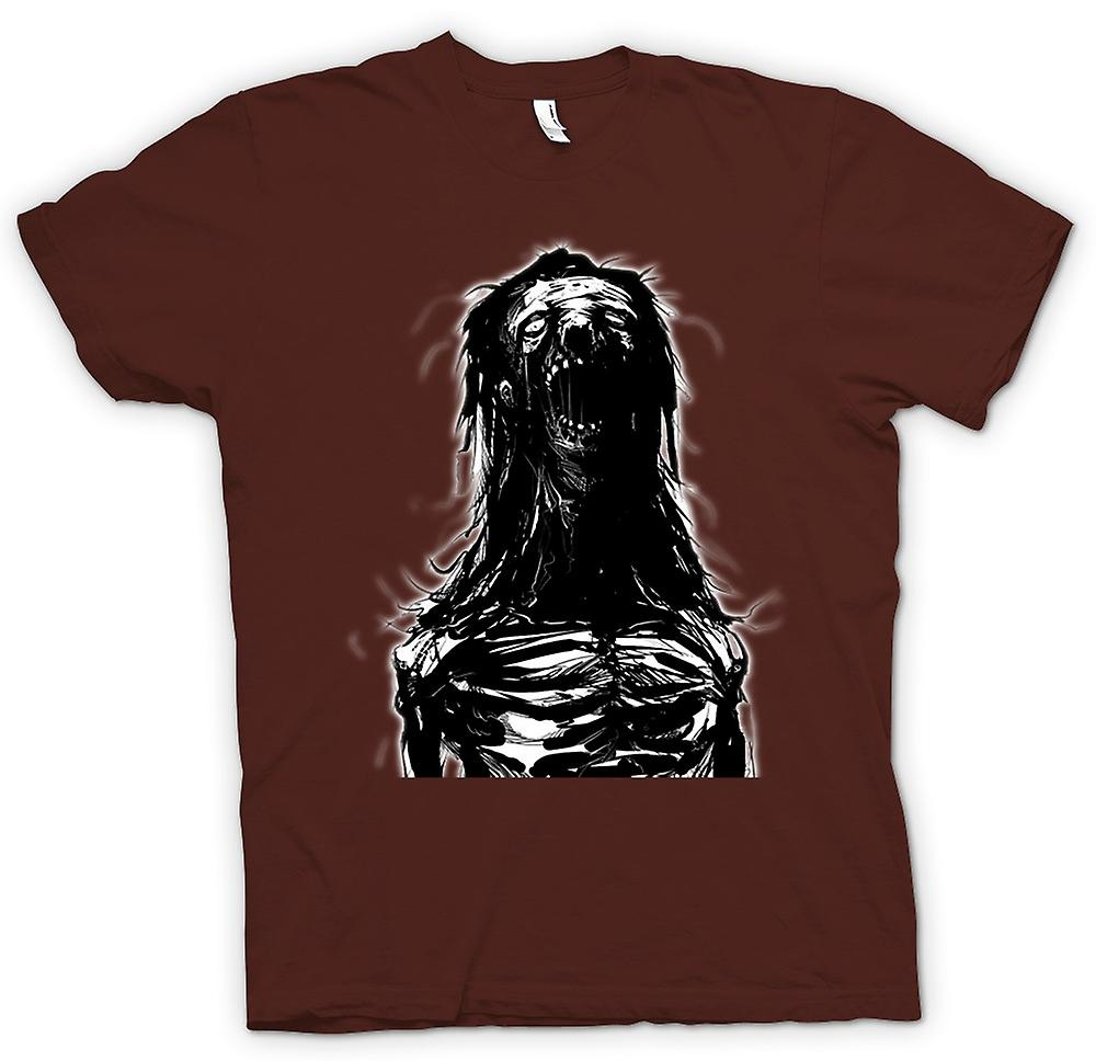 Mens T-shirt - Woman Zombie - Horror