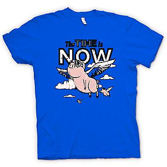 T-shirt-il tempo è ora i maiali possono volare
