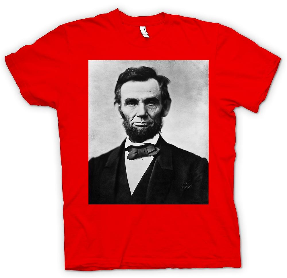 Mens T-shirt-Abraham Lincoln Portrait