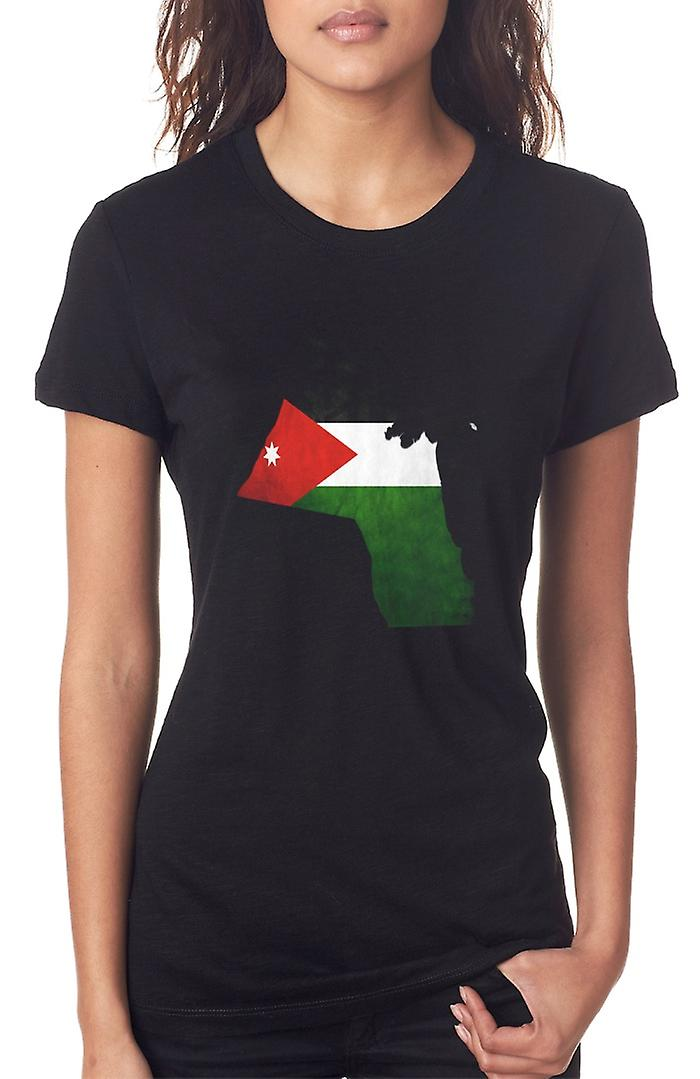 Kuwait Kuwait Bandiera Mappa Ladies T Shirt