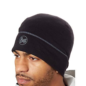 Buff Black Lightweight Merino Wool - Solid Beanie