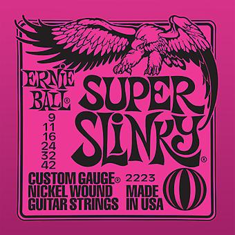 Ernie Ball Electric Guitar Strings - 9-42 Lite Super Slinky