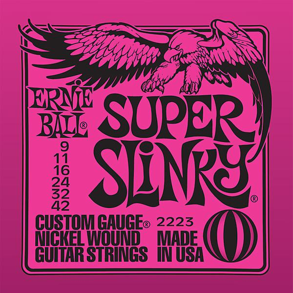 Ernie Ball Nickel Wound Slinky Strings String Gauge-Lite 9-42