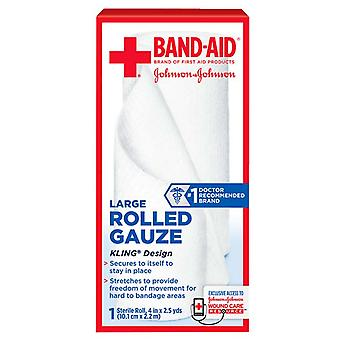 Band-Aid secourisme roulé gaze, grand, 4 pouces x 2,5 yards, 1 ea