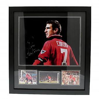 Manchester United Cantona Signée Encadrée Imprimer