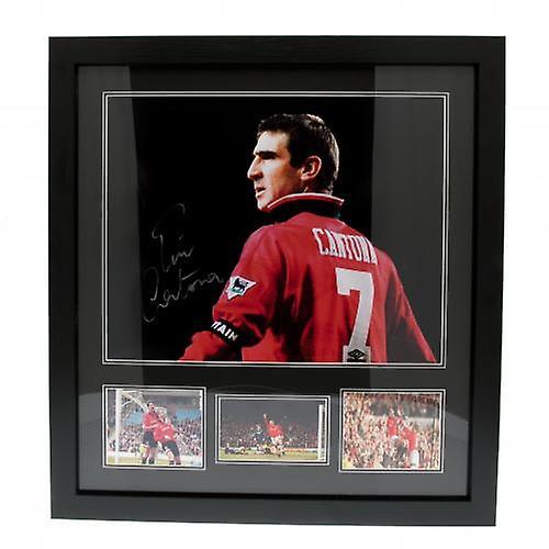 Manchester United Cantona Signed Framed Print