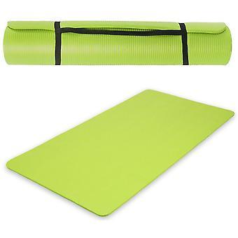 Tapis de yoga fitness gymnastique épais vert 190x100x1 5cm 0708004