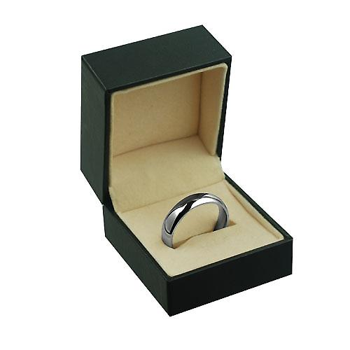 18ct White Gold 6mm plain Court shaped Wedding Ring