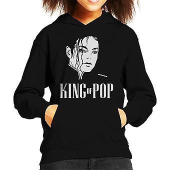 Michael Jackson King Of Pop Silhouette Kid's Hooded Sweatshirt