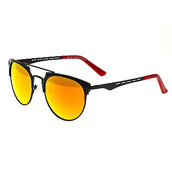 Breed Hercules Titanium Polarized Sunglasses - Black/Red-Yellow