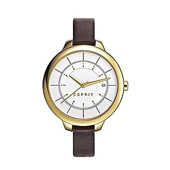 ESPRIT-Lynn analog wrist watch for women, leather band, Gold