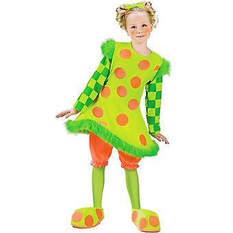Traje del payaso verde niño niña
