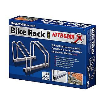 2 Fahrrad-Boden oder Wand Mount Rack Bike/Speicherzyklus Verriegelung Sicherheit Stand
