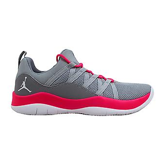 Nike Air Jordan Deca Fly GG Wolf Grey/White-Hyper Pink 844371-008 Grade-School