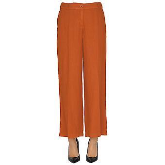 Seventy Orange Linen Pants