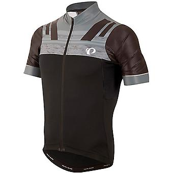 Pearl Izumi Black-Smoked Pearl Pro Escape Short Sleeved Cycling Jersey