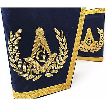 Masonic Gauntlets Cuffs - Embroidered - Navy Blue