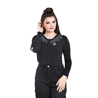 Hell Bunny Black Spider Cardigan XS