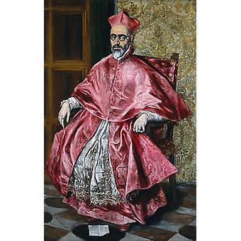 Portræt af kardinal Don Fernando Nino de, El Greco, 60x38cm