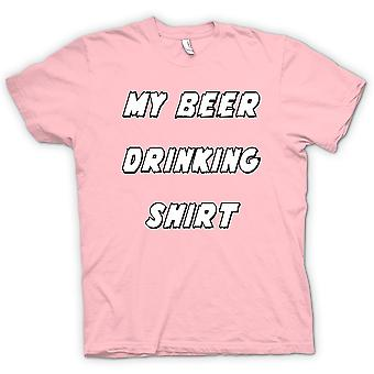 Mens T-shirt - My Beer Drinking Shirt - Funny