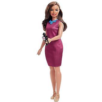 Barbie GFX27 Kariera 60th Doll, I can be dziennikarz, okrągła lalka