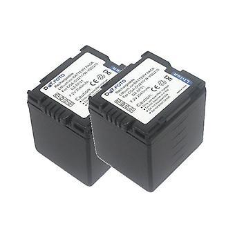 2 x Dot.Foto Panasonic CGA-DU21, VW-VBD210 batterie de remplacement - 7.2V / 2040mAh