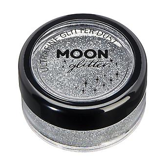 Classic Ultrafine Glitter Dust by Moon Glitter – 100% Cosmetic Glitter for Face, Body, Nails, Hair and Lips - 5g - Silver