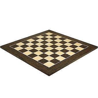 21.7 Inch Tiger Ebony and Maple Deluxe Chess Board