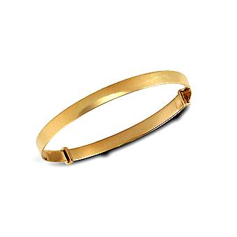 Jewelco London Kids Solid 9ct Yellow Gold Polished 3.5mm Expanding Bangle Bracelet
