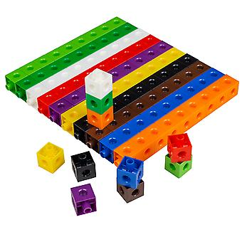 Linking Cubes 2Cm 10 Colours 100-Piece