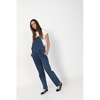 Womens regular fit denim dungarees